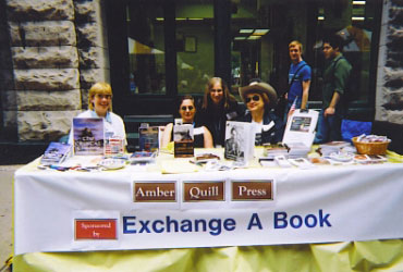 Printers Row, Chicago, Illinois book signing.  Beth is the one in the white Stetson.