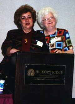 Beth Anderson and Nancy McCann at a Conference.