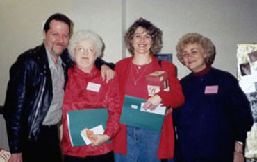 Beth Anderson with Trace Zaber and Patricia Rasey at a Chicago Writers' Conference.